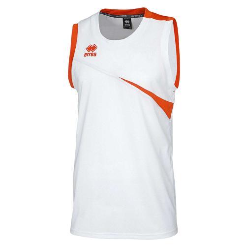 Maillot Basket Errea Toronto Homme Blanc/Orange