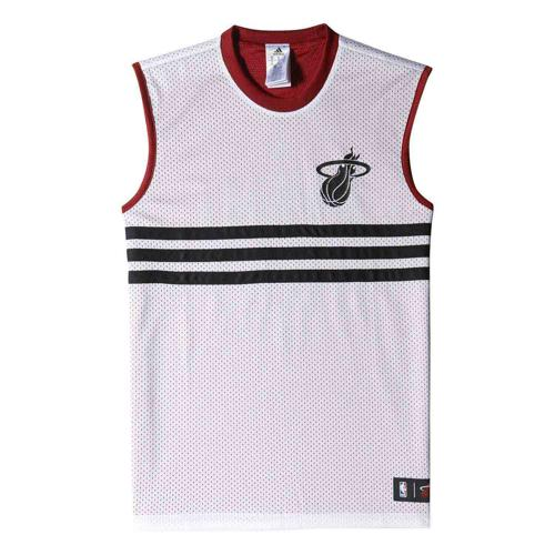 Maillot Basket adidas Miami Heat Réversible SMR Homme Blanc/Rouge