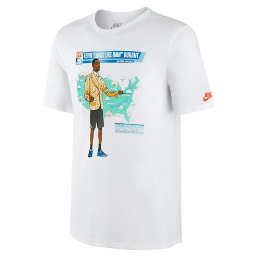 T-Shirt Basket Nike KD Weather Homme Blanc