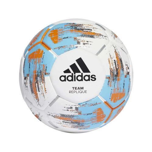 Ballon de foot - adidas - Team Replique - Blanc/Cyan/Orange