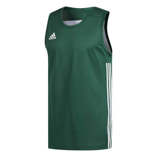 Maillot de basket - adidas 3G Speed Reversible Vert/Blanc
