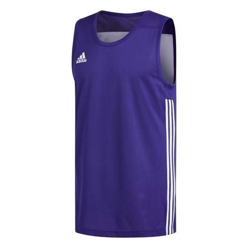 Maillot de basket - adidas 3G Speed Reversible Violet/Blanc
