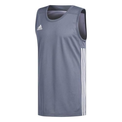 Maillot de basket - adidas 3G Speed Reversible Gris/Blanc