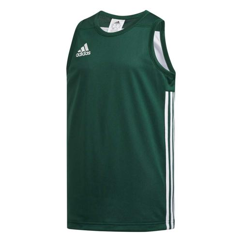 Maillot de basket enfant adidas - 3G Speed Reversible Vert/Blanc