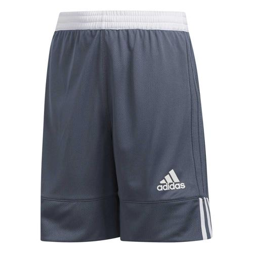 Short de basket enfant adidas - 3G Speed Reversible Gris/Blanc