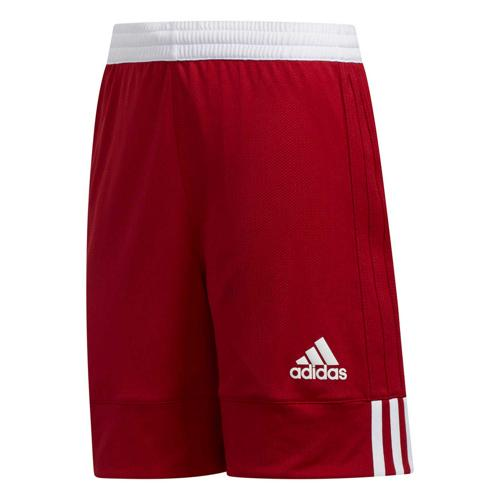 Short de basket enfant adidas - 3G Speed Reversible Rouge/Blanc