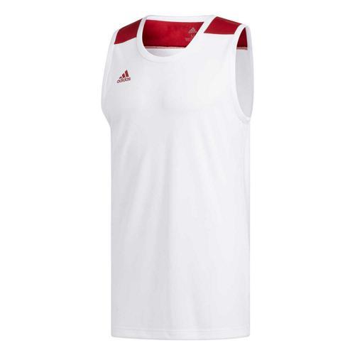Maillot de basket - adidas Creator 365 - Blanc/Rouge