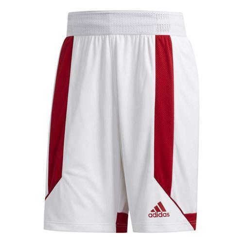 Short de basket - adidas Creator 365 - Blanc/Rouge
