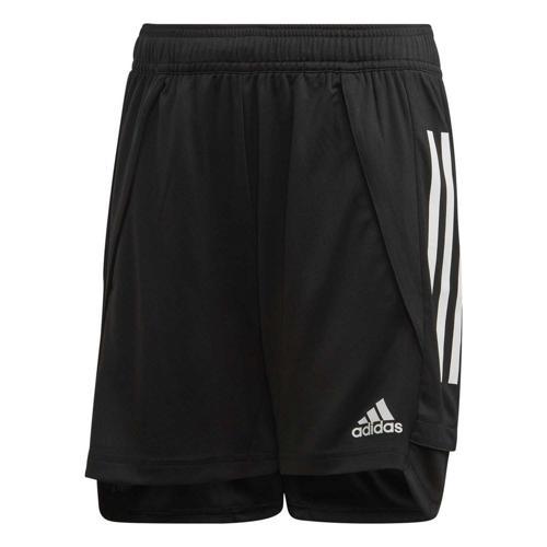 Short d'entraînement de foot enfant - adidas - Condivo 20 Noir/Blanc