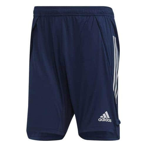 Short d'entraînement de foot adidas - Condivo 20 - Bleu foncé/Blanc