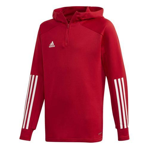 Veste de survêtement de foot enfant adidas Condivo 20 Hooded Rouge
