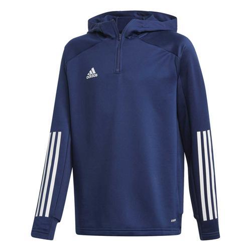 Veste de survêtement de foot enfant - adidas - Condivo 20 Hooded - Bleu foncé