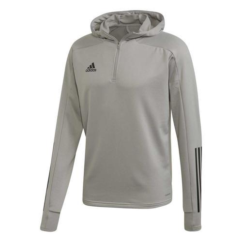 Veste de survêtement de foot adidas - Condivo 20 Hooded Gris