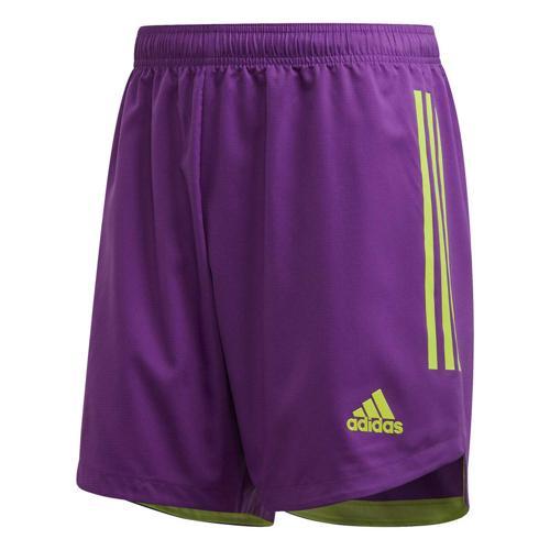 Short de foot - adidas Condivo 20 - Violet/Vert fluo