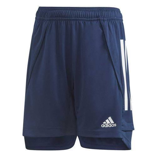 Short d'entraînement de foot enfant - adidas - Condivo 20 Bleu foncé/Blanc