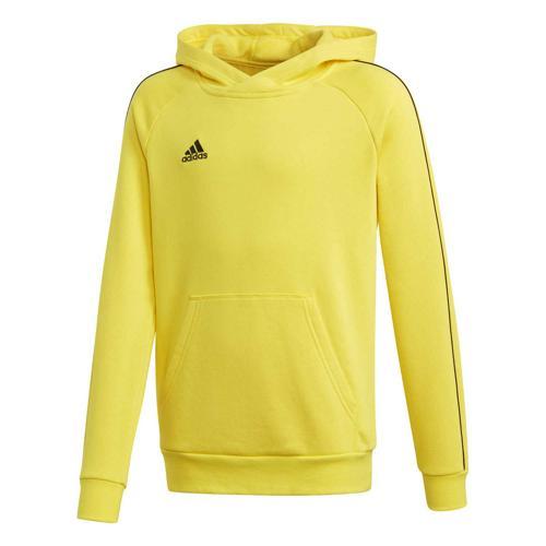 Sweat-shirt à capuche de foot enfant - adidas - Core 18 Jaune