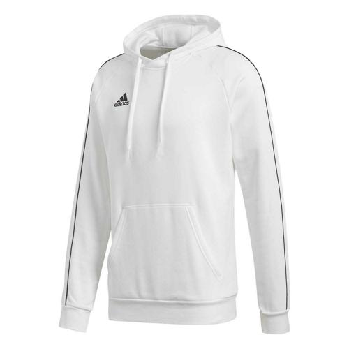Sweat-shirt à capuche de foot - adidas - Core 18 - Blanc