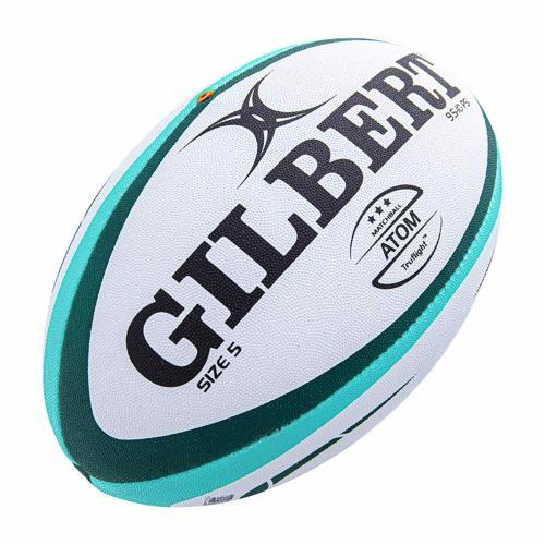 Ballon de rugby - Gilbert atom vert taille 4