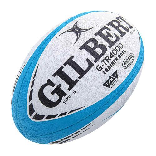Ballon de rugby - Gilbert GTR 4000 bleu ciel taille 5