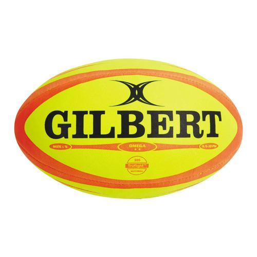 Ballon de rugby - Gilbert omega fluo taille 4