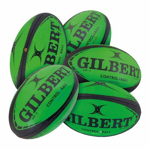 Lot 5 ballons de rugby Gilbert - control-A-balls taille 4
