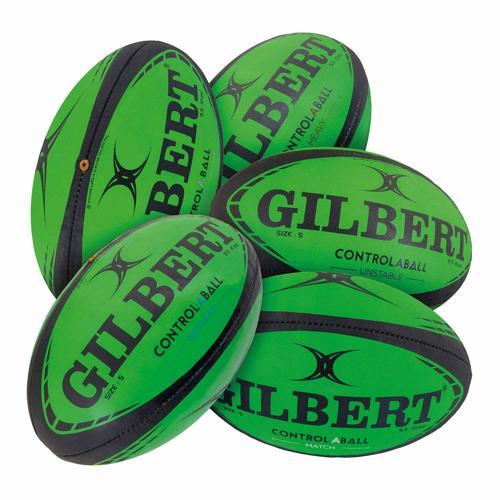 Lot 5 ballons de rugby Gilbert - control-A-balls taille 5