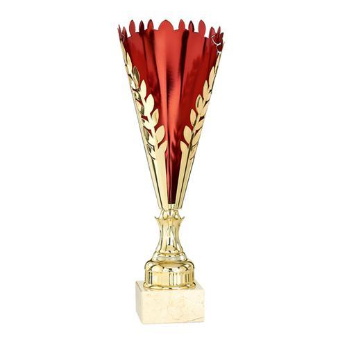 Coupe rouge et or - économique - 48cm.