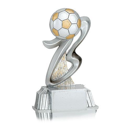 Trophée foot argent - ballon spécial foot - 11cm.