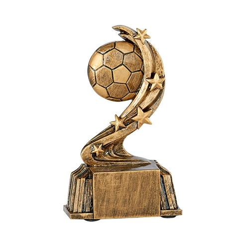 Trophée foot bronze - ballon spécial foot - 11cm.