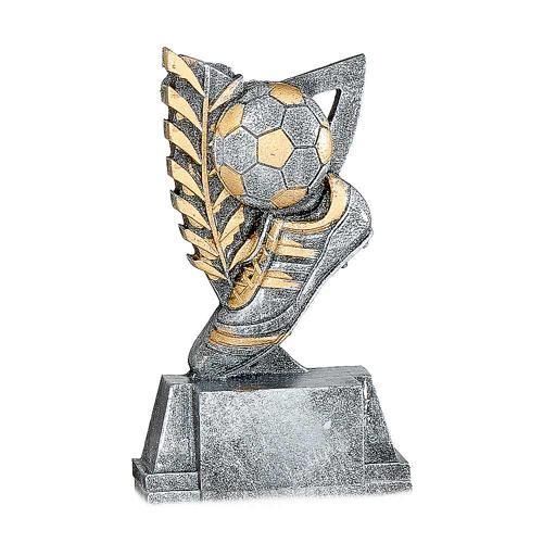Trophée foot argent - ballon et chaussure - spécial foot 11cm.