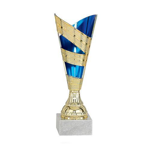 Coupe bleu et or - économique - 12cm.