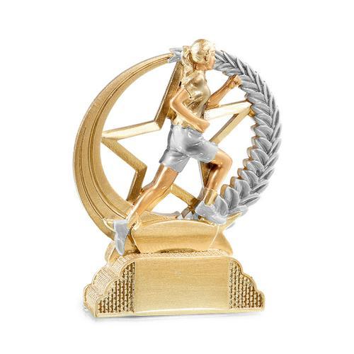 Trophée course or - résine 13cm.