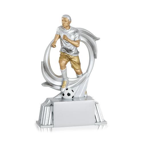 Trophée foot argent - joueur spécial foot - 15cm.