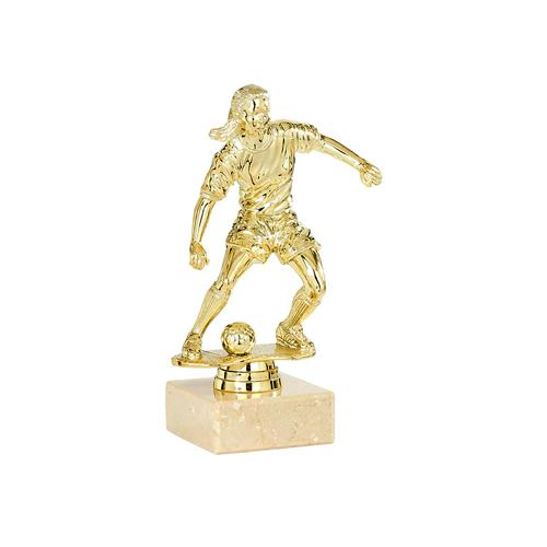 Trophée foot or - joueuse spécial foot - 15cm.
