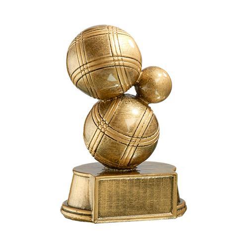 Trophée boules bronze spécial pétanque - 15cm.