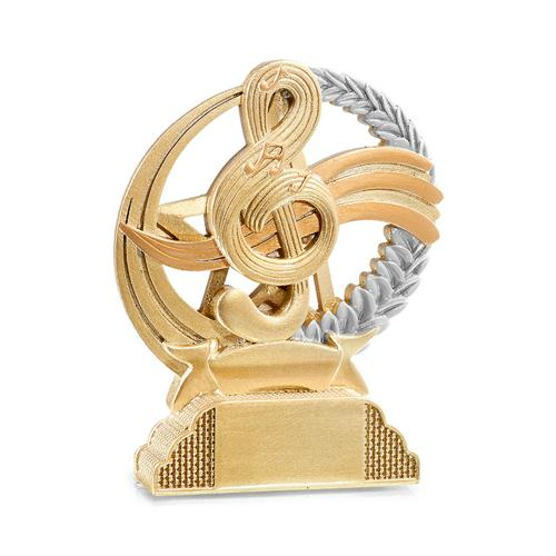 Trophée musique or - résine 13cm.