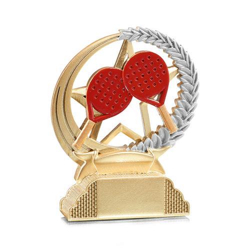 Trophée squash or - résine - 13cm.