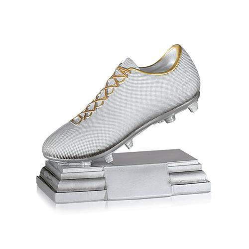 Trophée foot argent chaussure - spécial foot 17x20cm.