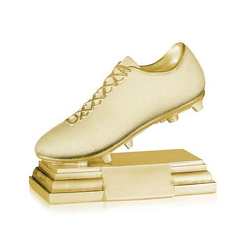 Trophée foot or - chaussure spécial foot - 17x20cm.