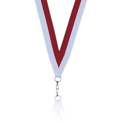 Ruban médaille rouge et blanc - 22mm.