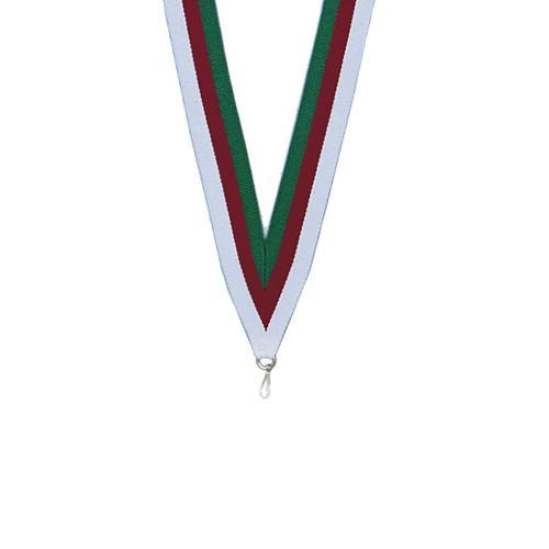 Ruban médaille vert rouge et blanc - 22mm.