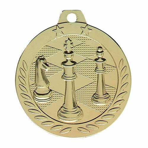 Médaille échecs or - 40mm.
