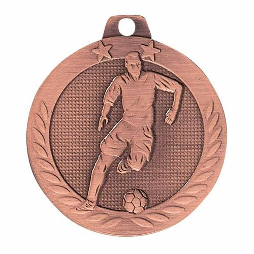 Médaille foot bronze - 40mm.