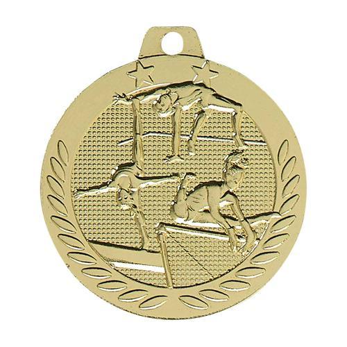 Médaille gym femme or - 40mm.