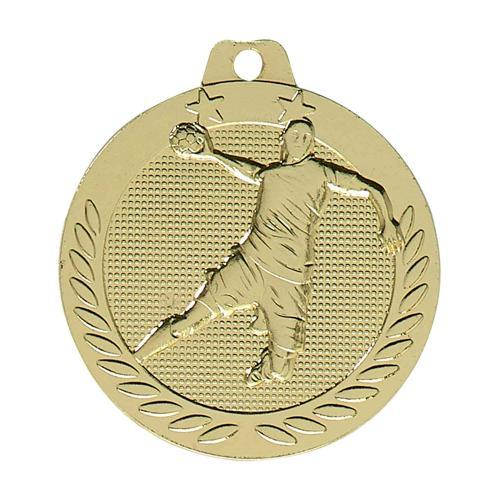 Médaille handball or - 40mm.
