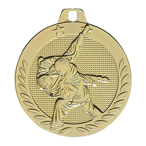 Médaille judo or - 40mm.