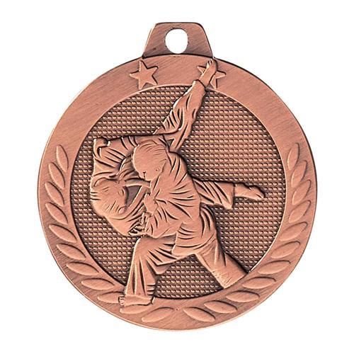Médaille judo bronze - 40mm.