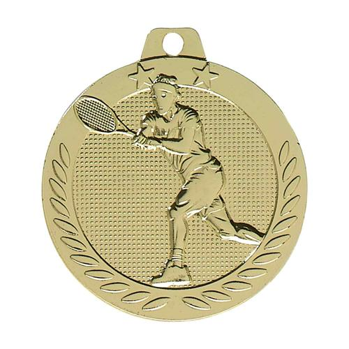 Médaille tennis or - 40mm.