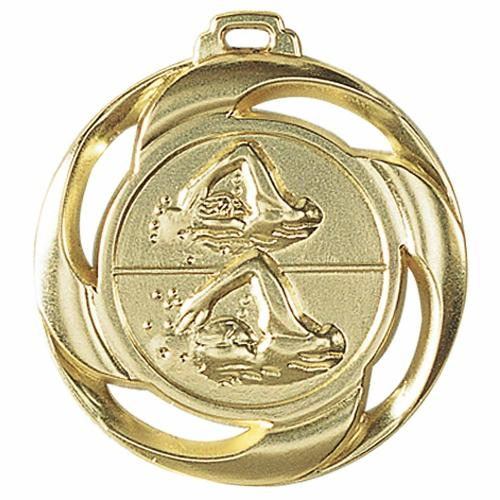 Médaille natation or - 40mm.