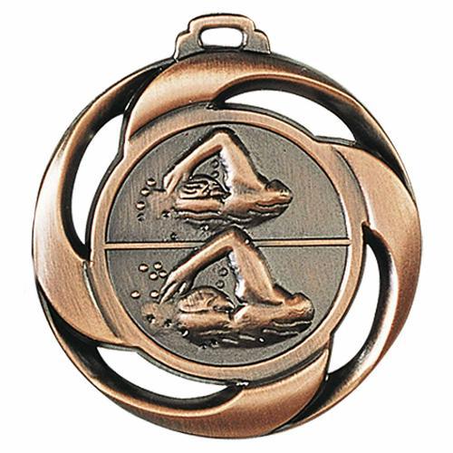 Médaille natation bronze 40mm.